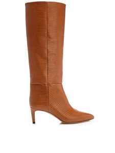 Paris Texas - Lizard print boots in whisky color