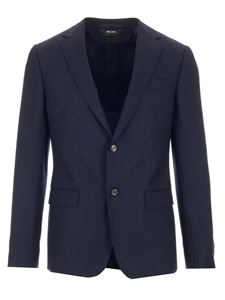 Z Zegna - Single-breasted jacket in blue