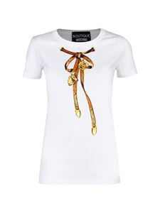 Moschino Boutique - Bow print T-shirt in white
