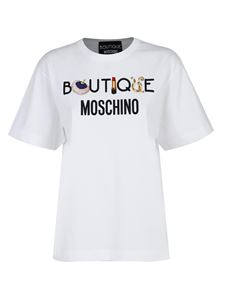 Moschino Boutique - Printed T-shirt in white