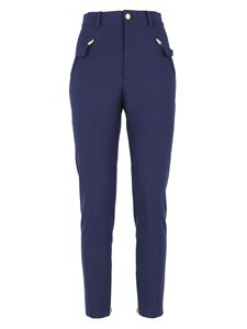 Moschino Boutique - Side zipped pockets pants in blue