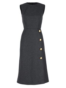 Moschino Boutique - Sleeveless sheath dress in grey with buttons