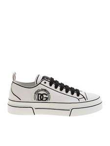 Dolce & Gabbana - Logo patch sneakers in white and black
