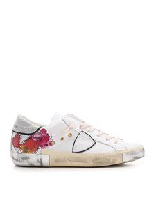 Philippe Model - Flowers print PRSX sneakers in white