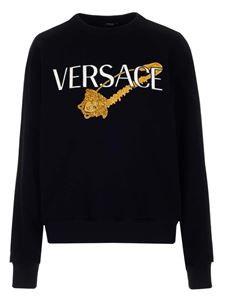 Versace - Safety Pin embroidered sweatshirt in black