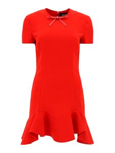 Dsquared2 - Ruffle detailed dress in red