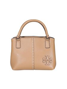 Tory Burch - Hammered leather bag in beige