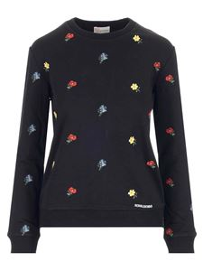 Red Valentino - Floral embroideries sweatshirt in black
