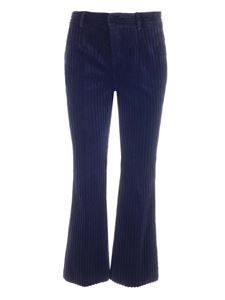Red Valentino - Corduroy trousers in blue
