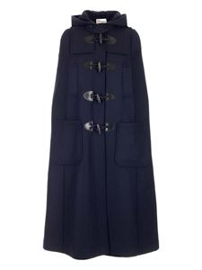 Red Valentino - Hooded cape in blue