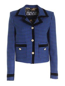 Versace Jeans Couture - Houndstooth jacket in electric blue