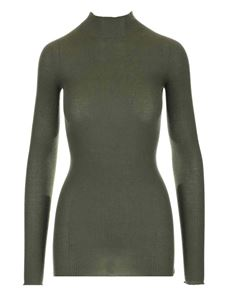 Rick Owens - Ribbed turtleneck in military green