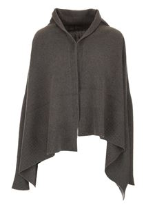 Rick Owens - Ribbed cape in grey