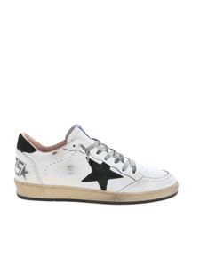 Golden Goose - Ball Star sneakers in white and green