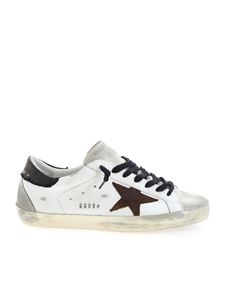 Golden Goose - Superstar sneakers in white and brown