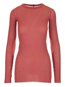 Rick Owens - Long-sleeved T-shirt in coral red