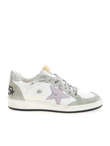 Golden Goose - Ball Star sneakers in white and grey