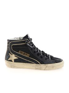 Golden Goose - Slide Double Quarter sneakers in black and gold