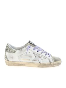 Golden Goose - Super Star sneakers in white, silver and lilac