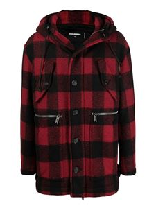 Dsquared2 - Checked jacket in red and black