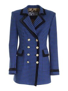 Versace Jeans Couture - Houndstooth jacket in blue and black