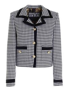 Versace Jeans Couture - Houndstooth jacket in white and black