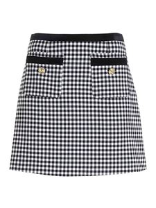 Versace Jeans Couture - Houndstooth mini skirt in white and black