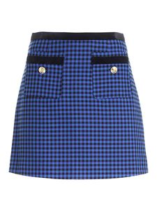 Versace Jeans Couture - Houndstooth skirt in electric blue and black