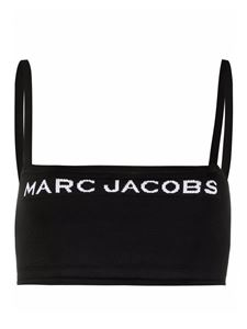 Marc Jacobs  - Logo embroidery top in black