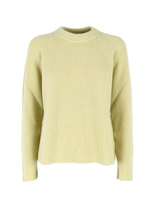 malo - Mock neck sweater in Lime color