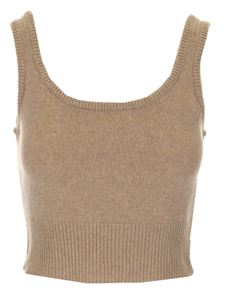 Federica Tosi - Cashmere and wool knitted top in beige
