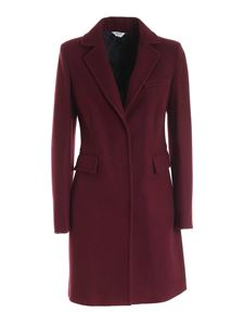 Liujo - Single-breasted coat in Charm Red color