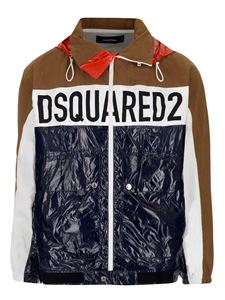 Dsquared2 - Logo jacket in brown and blue