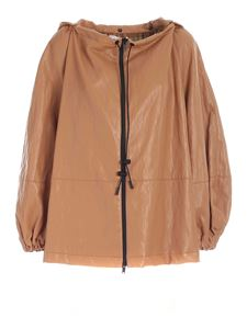 Erika Cavallini - Synthetic leather jacket in camel color
