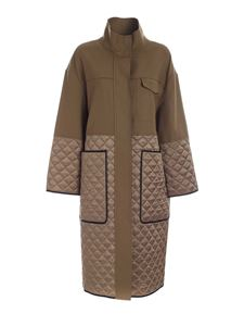 Erika Cavallini - Quilted inserts coat in army green