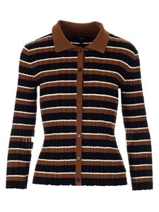 Theory - Multicolor ribbed cardigan