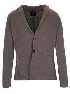Roberto Collina - Knitted two buttons jacket in grey