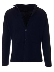 Roberto Collina - Knitted two buttons jacket in blue