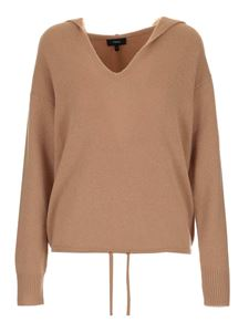 Theory - Hooded sweater in camel color