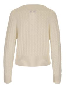 Theory - Braided knitting sweater in white