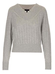 Theory - Braided knitting sweater in grey