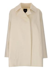 Theory - Wool and cashmere coat in white