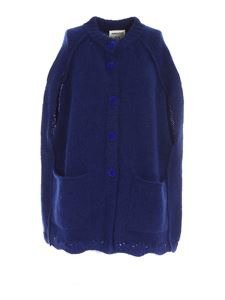 Semicouture - Oversized fit cape in blue