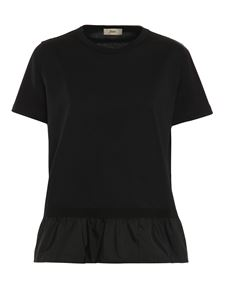 Herno - Flounced T-shirt in black