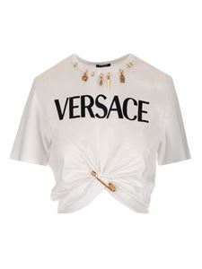 Versace - Safety Pin Logo T-shirt in white