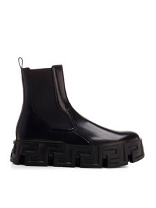 Versace - Greca Labyrinth Chelsea boots in black