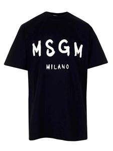 MSGM - Logo t-shirt in black and white