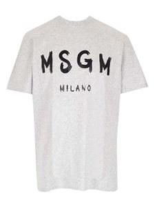 MSGM - Logo t-shirt in gray and black