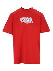 MSGM - Double logo t-shirt in red