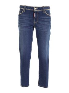 Dsquared2 - Golden chain cropped jeans in blue